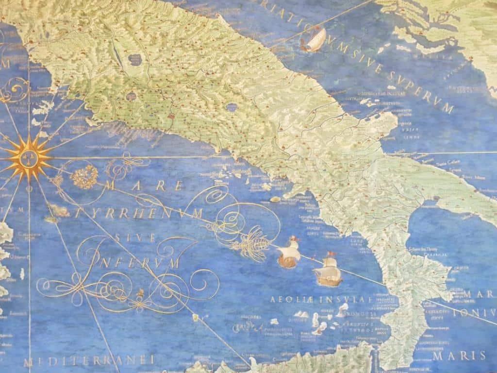 historische karte italien weinreise italien