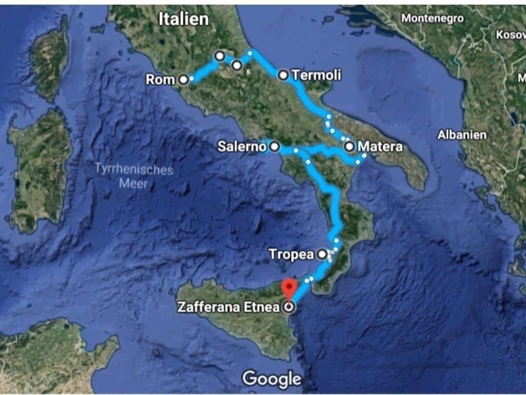 italien weinreise route weingüter süditalien
