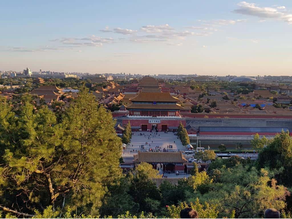 aussicht vom kohleberg verlorene stadt in peking