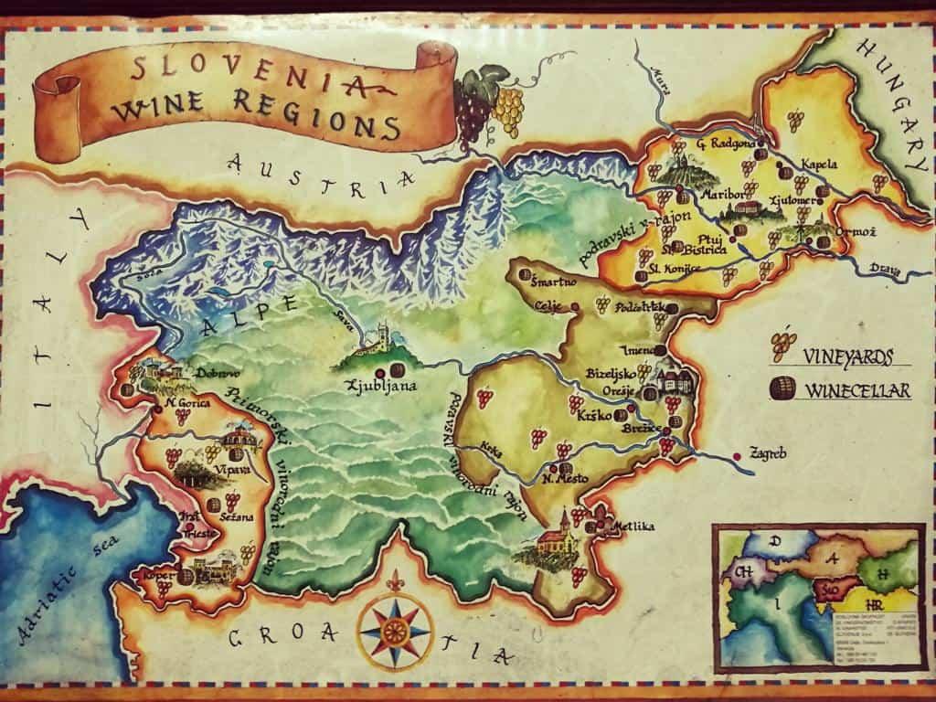 karte weinanbau gebiete slowenien
