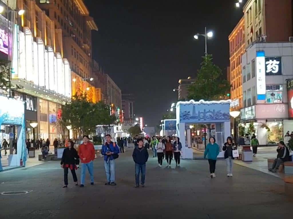 wangfujin road bei nacht peking china