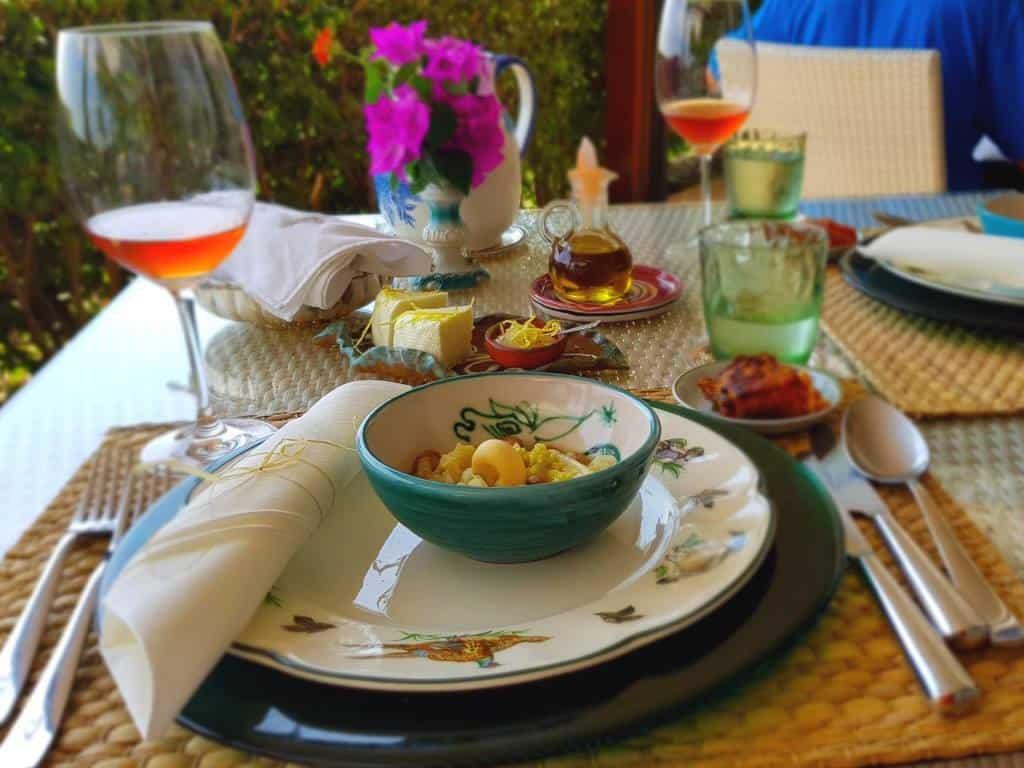 die speisen vom weingut le vigne di raito amalfi in mehreren gaengen