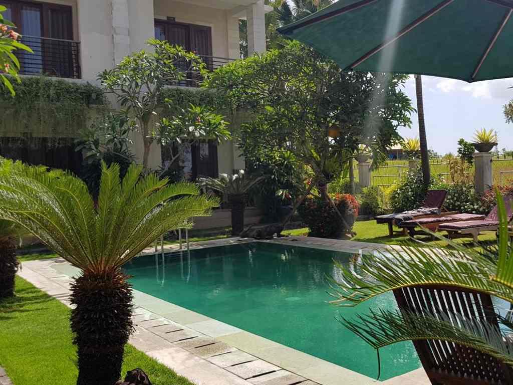 unser hotel in canggu auf bali