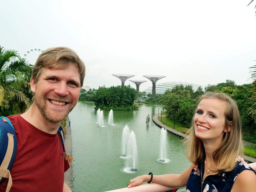 jule und jost in singapur im gardens by the bay