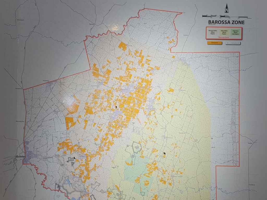 karte von der barossa zone