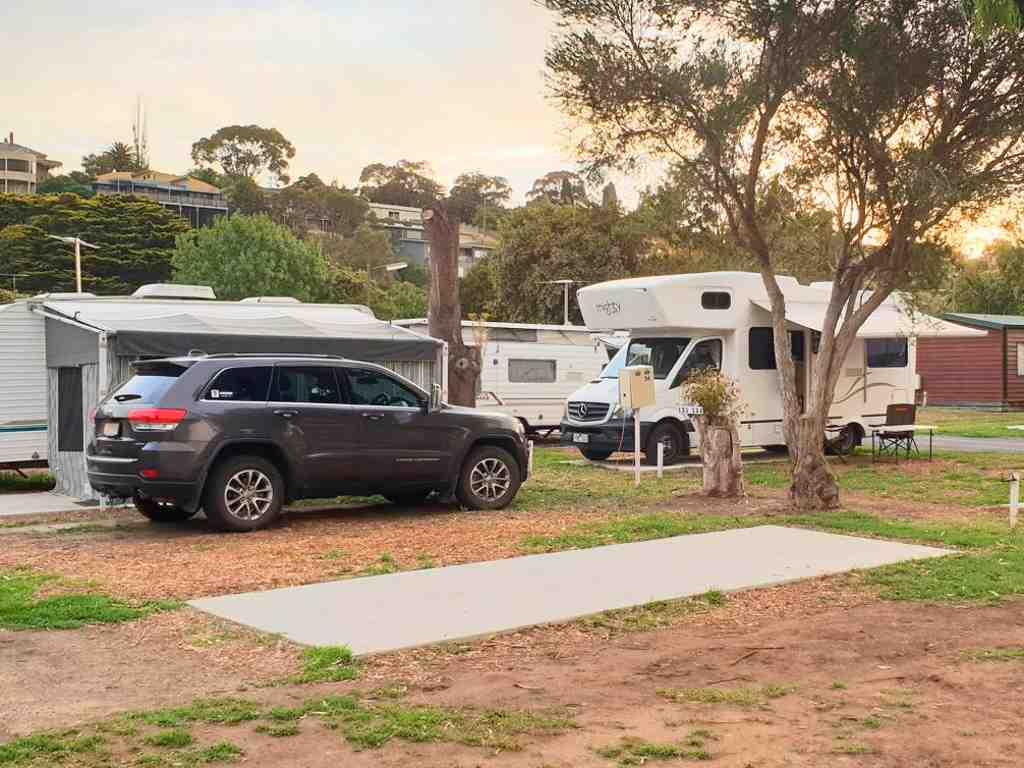 ein typischer campingplatz in australien