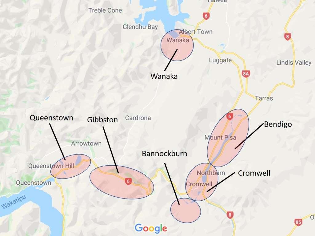 weinregionen in central otago neuseeland