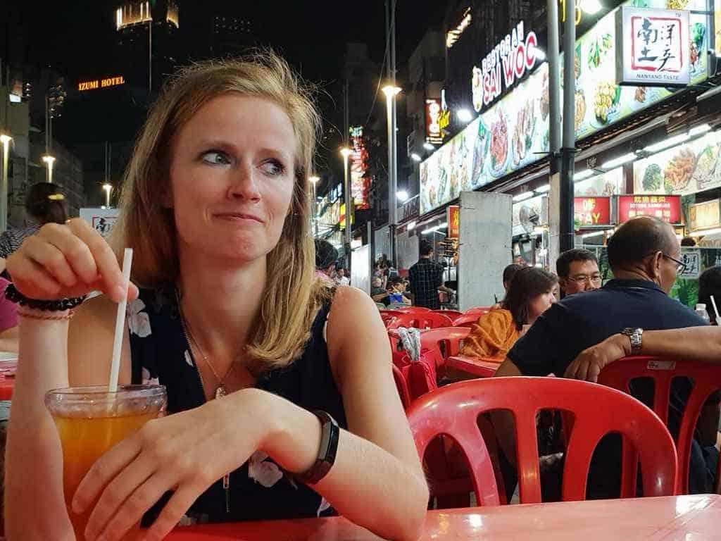 jule in der snack street jalan alor in kuala lumpur jule